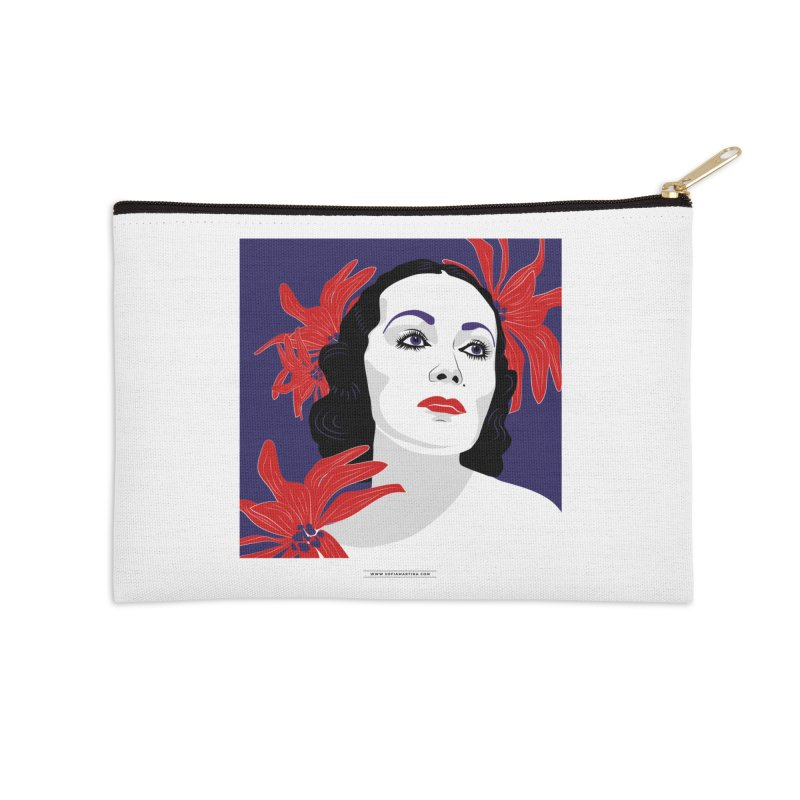 Old Hollywood glamor Accessories Zip Pouch by Sofimartina's Artist Shop