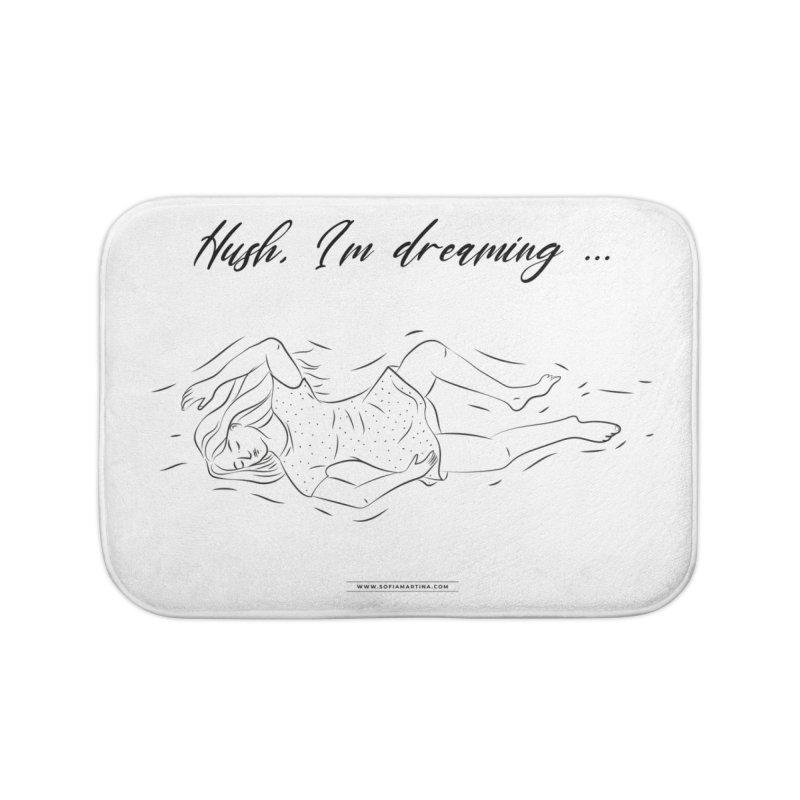 Hush, i'm dreaming Home Bath Mat by Sofimartina's Artist Shop