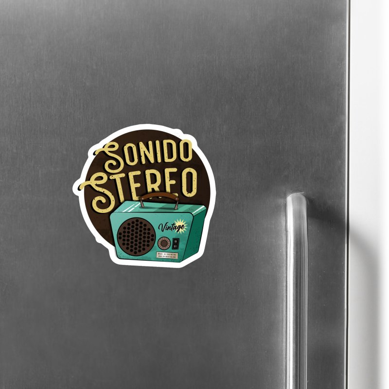 Sonido Stereo Accessories Magnet by Sofimartina's Artist Shop