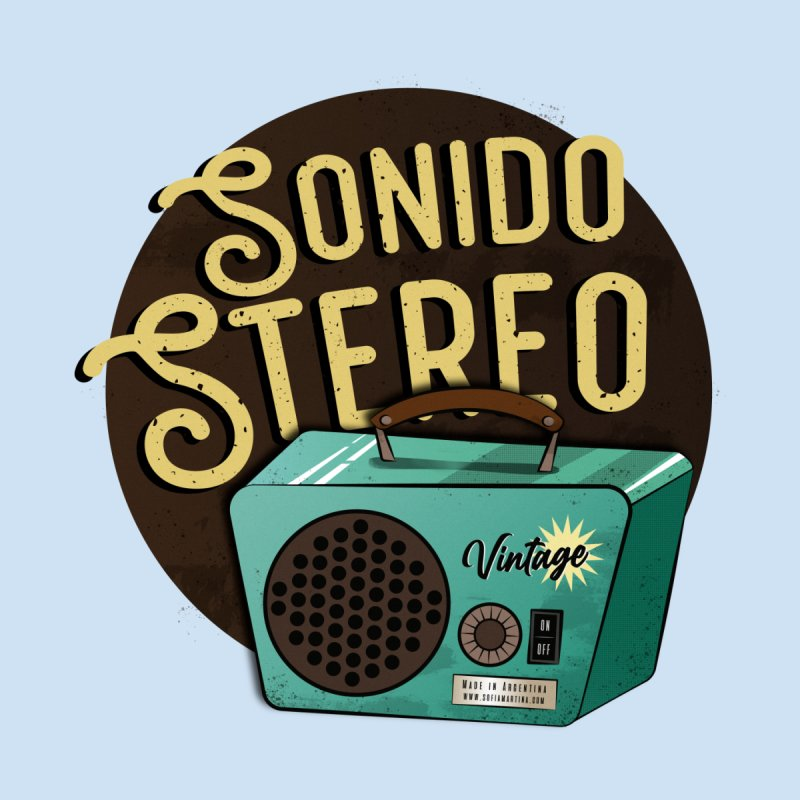 Sonido Stereo Home Mounted Aluminum Print by Sofimartina's Artist Shop