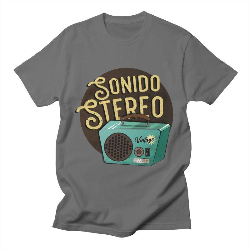 Sonido Stereo Men's T-Shirt by Sofimartina's Artist Shop