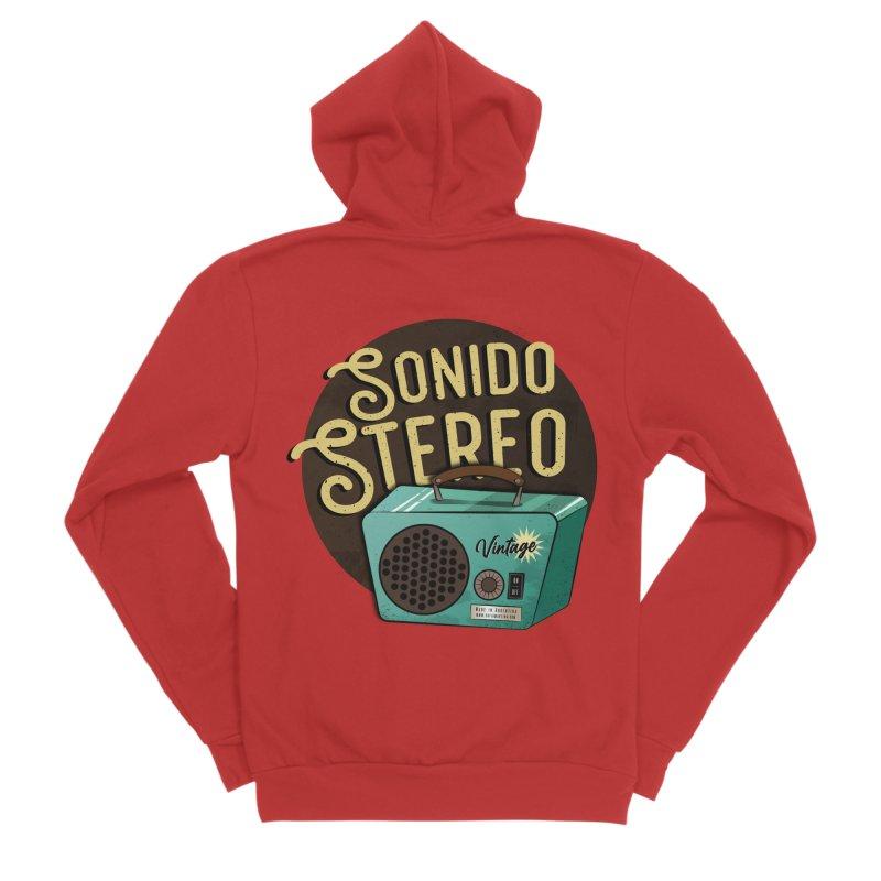 Sonido Stereo Men's Zip-Up Hoody by Sofimartina's Artist Shop