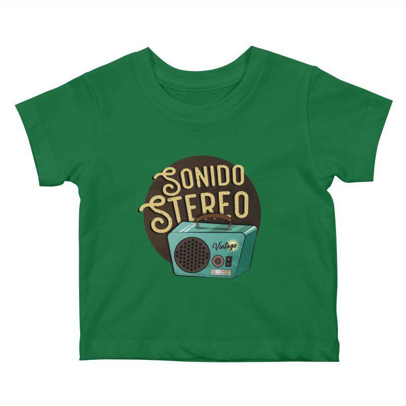 Sonido Stereo Kids Baby T-Shirt by Sofimartina's Artist Shop