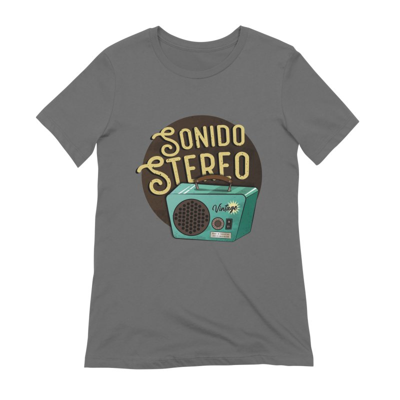 Sonido Stereo Women's T-Shirt by Sofimartina's Artist Shop