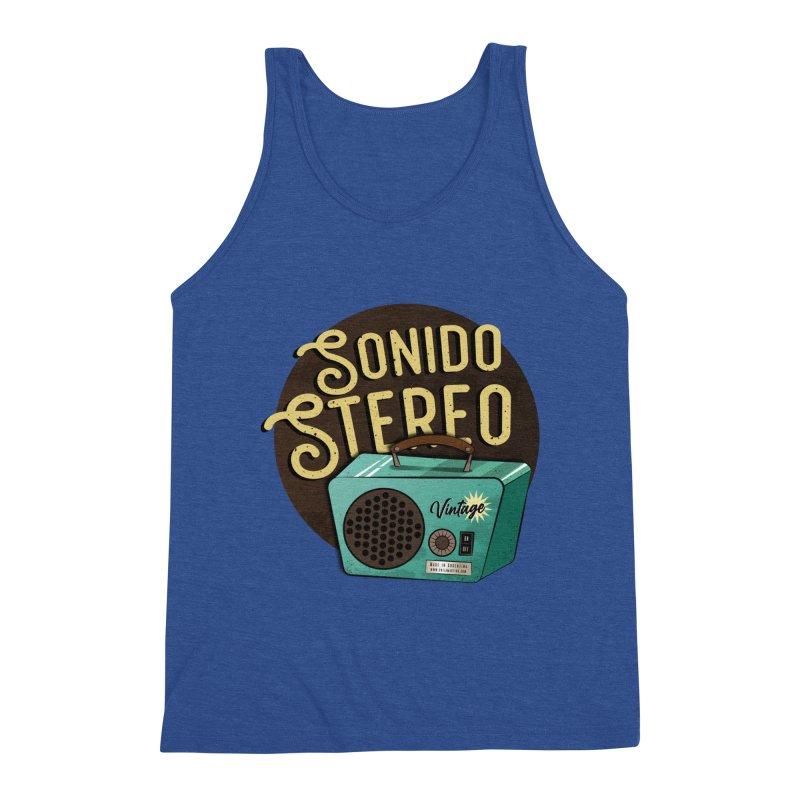 Sonido Stereo Men's Tank by Sofimartina's Artist Shop