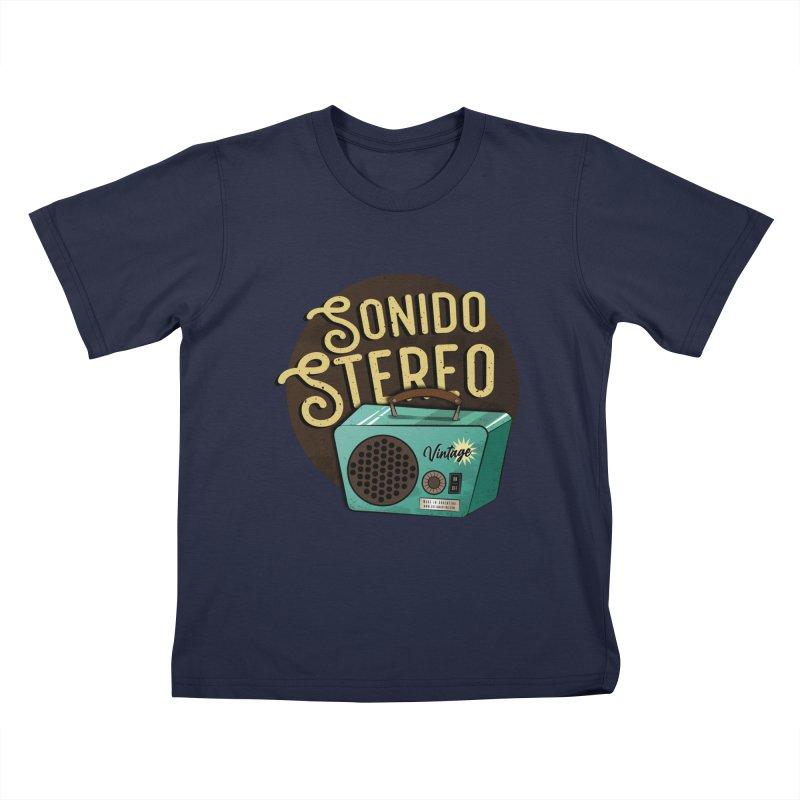Sonido Stereo Kids T-Shirt by Sofimartina's Artist Shop