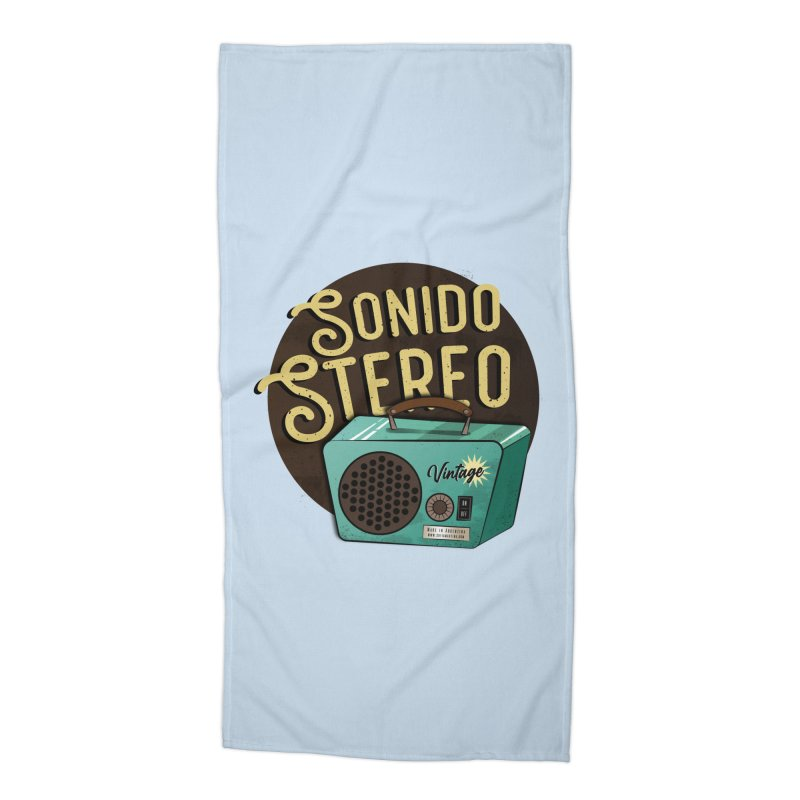 Sonido Stereo Accessories Beach Towel by Sofimartina's Artist Shop