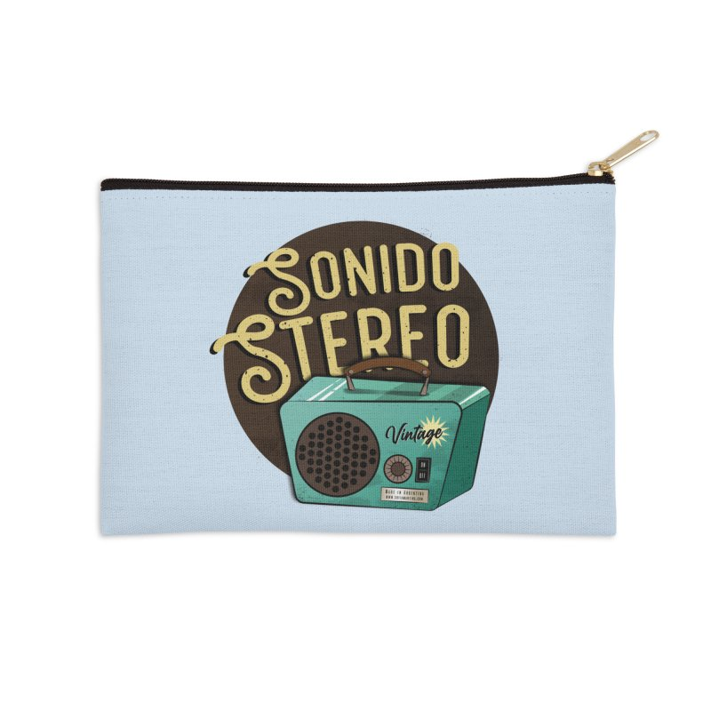 Sonido Stereo Accessories Zip Pouch by Sofimartina's Artist Shop