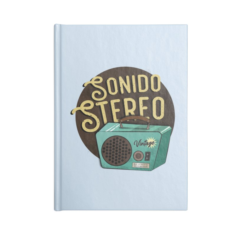 Sonido Stereo Accessories Notebook by Sofimartina's Artist Shop