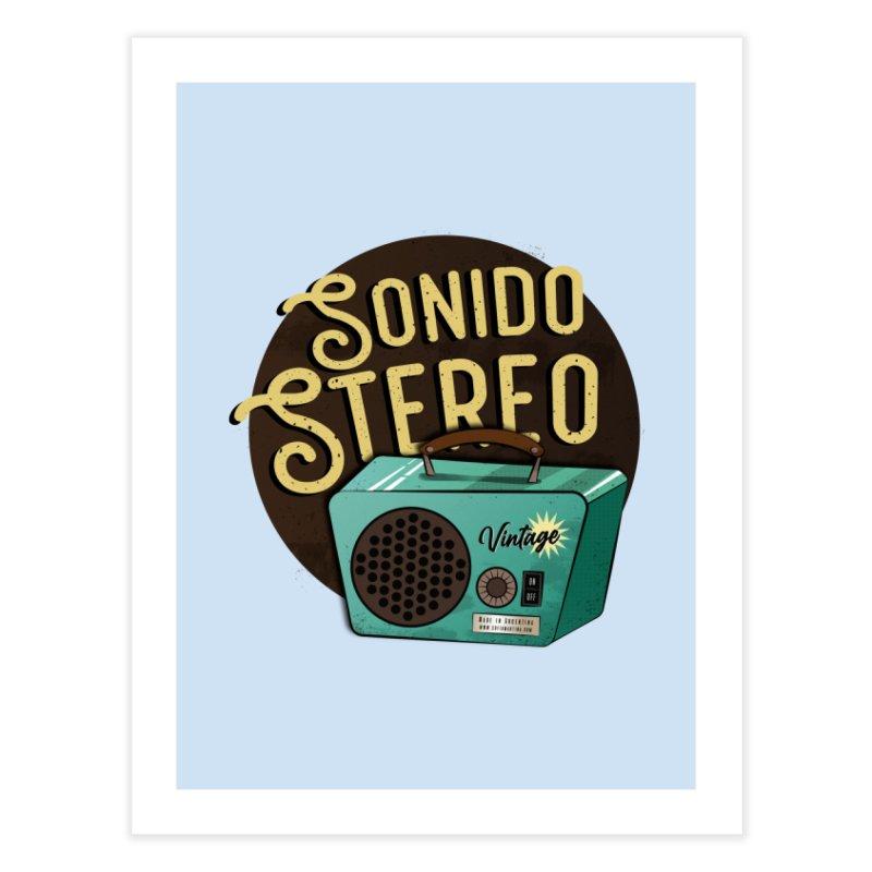 Sonido Stereo Home Fine Art Print by Sofimartina's Artist Shop