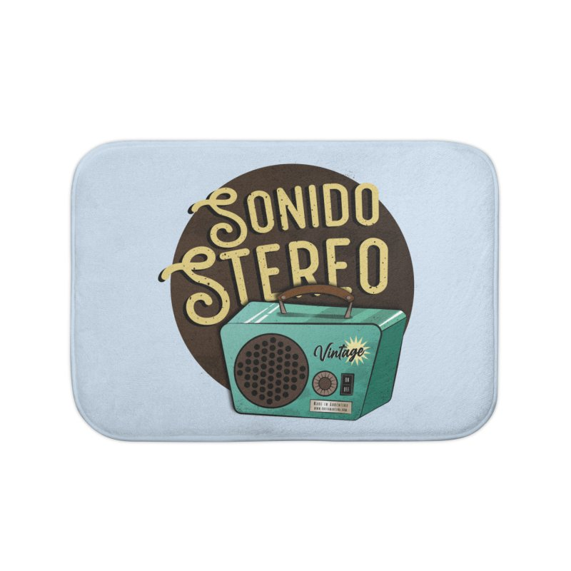 Sonido Stereo Home Bath Mat by Sofimartina's Artist Shop