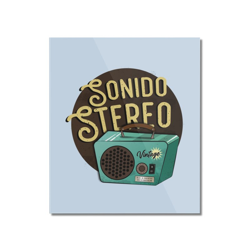 Sonido Stereo Home Mounted Acrylic Print by Sofimartina's Artist Shop