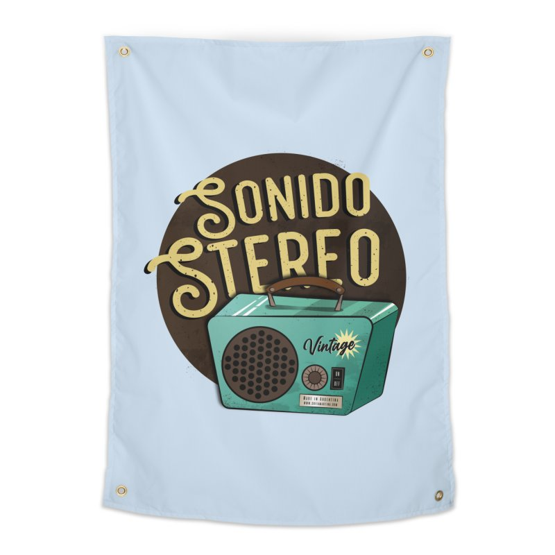 Sonido Stereo Home Tapestry by Sofimartina's Artist Shop