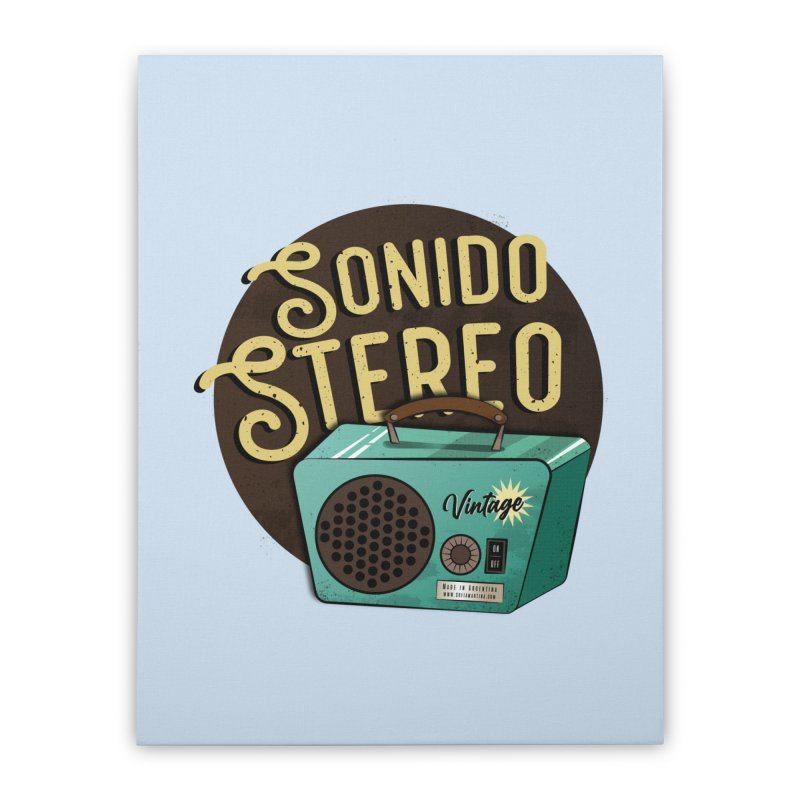 Sonido Stereo Home Stretched Canvas by Sofimartina's Artist Shop