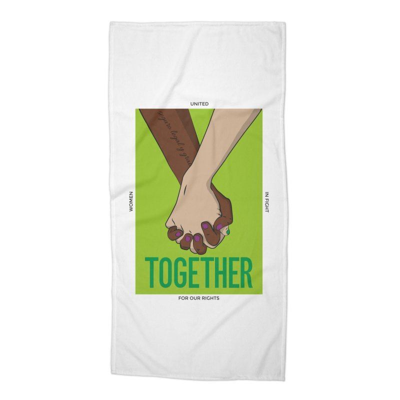 Together Accessories Beach Towel by Sofimartina's Artist Shop