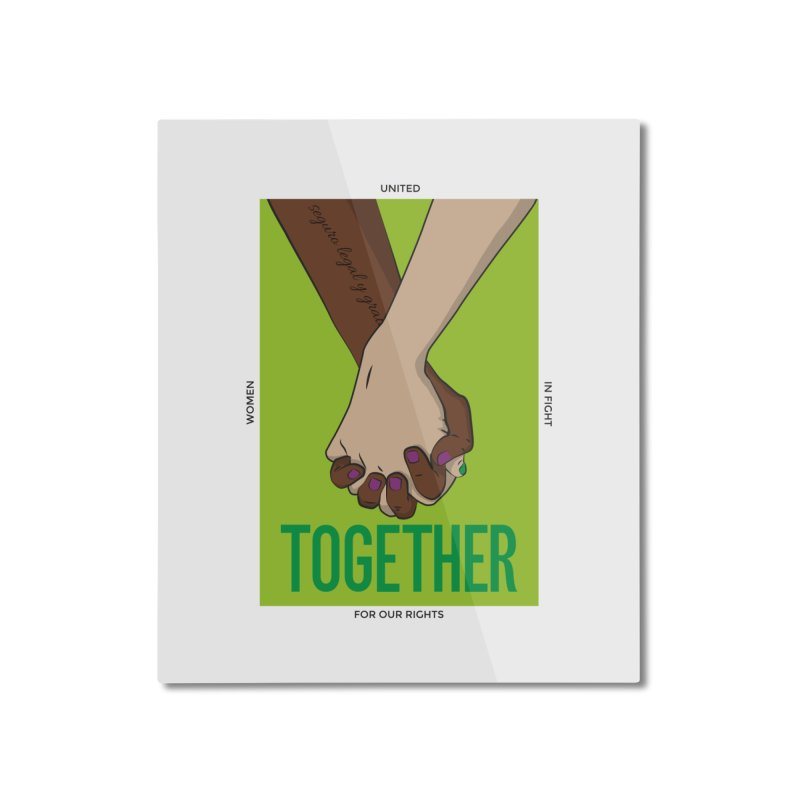 Together Home Mounted Aluminum Print by Sofimartina's Artist Shop