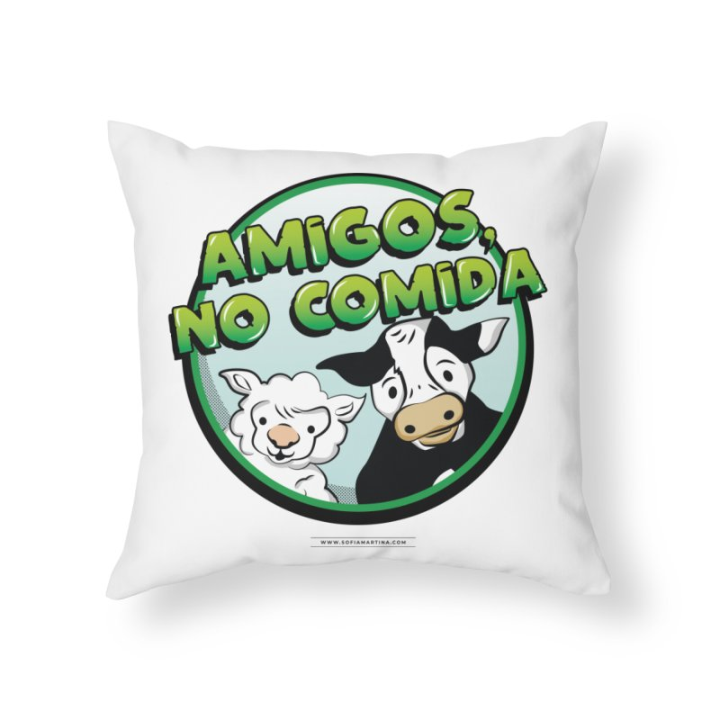 Friends, no food Home Throw Pillow by Sofimartina's Artist Shop
