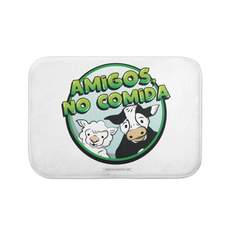 Friends, no food Home Bath Mat by Sofimartina's Artist Shop