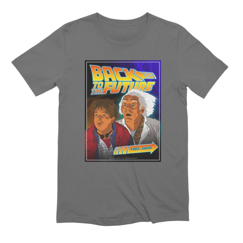 Back to the future Fan Art Men's T-Shirt by Sofimartina's Artist Shop