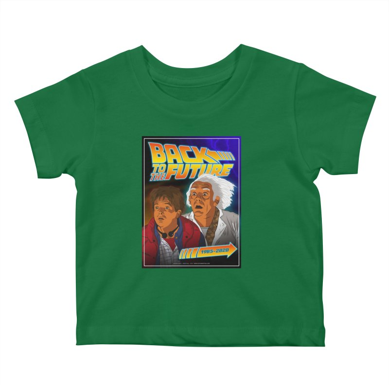 Back to the future Fan Art Kids Baby T-Shirt by Sofimartina's Artist Shop