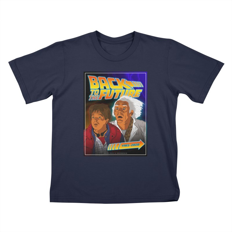 Back to the future Fan Art Kids T-Shirt by Sofimartina's Artist Shop