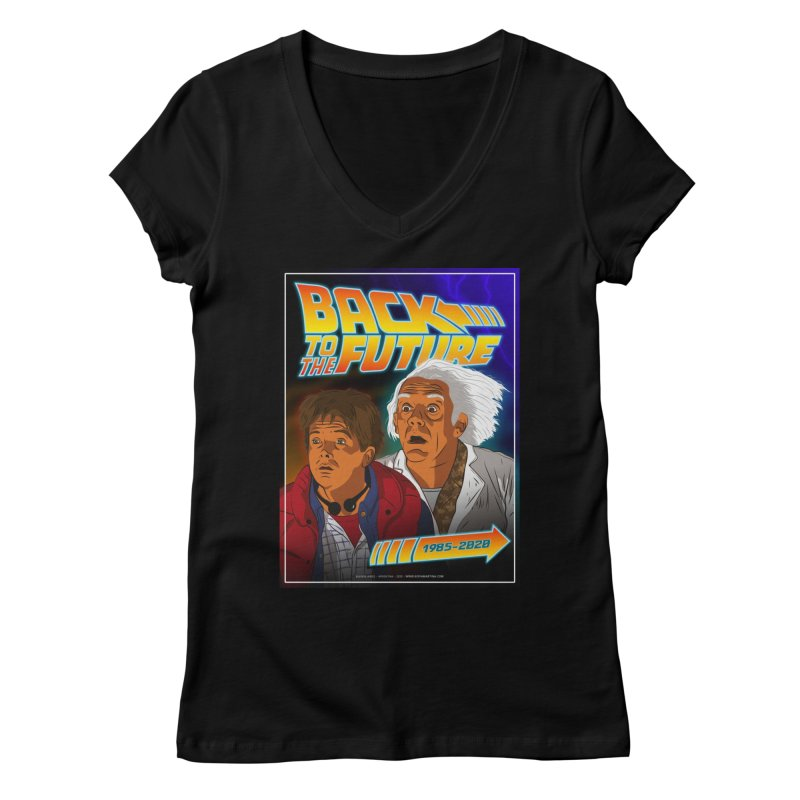 Back to the future Fan Art Women's V-Neck by Sofimartina's Artist Shop