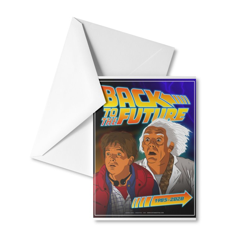 Back to the future Fan Art Accessories Greeting Card by Sofimartina's Artist Shop