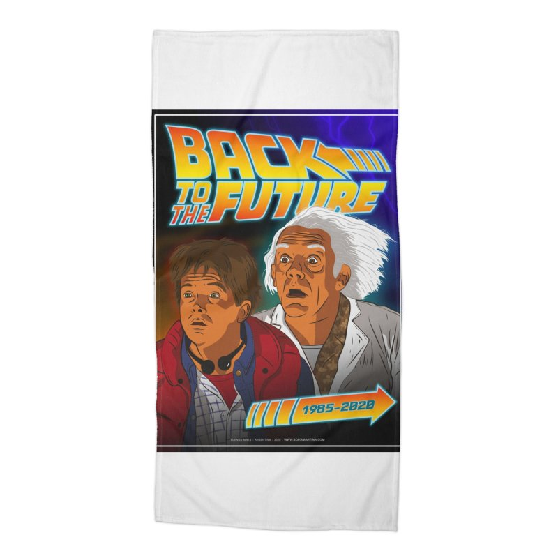 Back to the future Fan Art Accessories Beach Towel by Sofimartina's Artist Shop