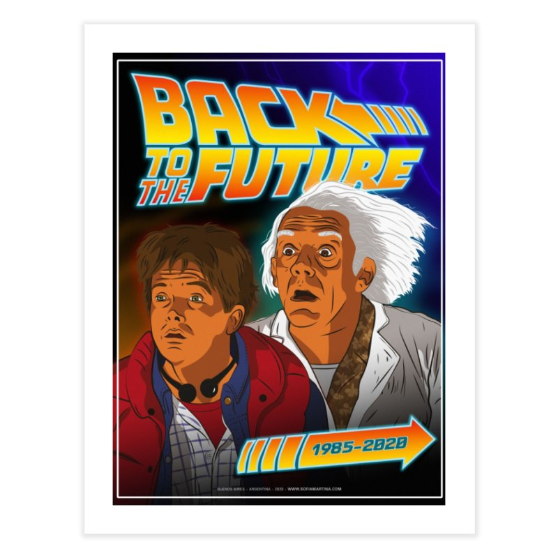 Back to the future Fan Art Home Fine Art Print by Sofimartina's Artist Shop