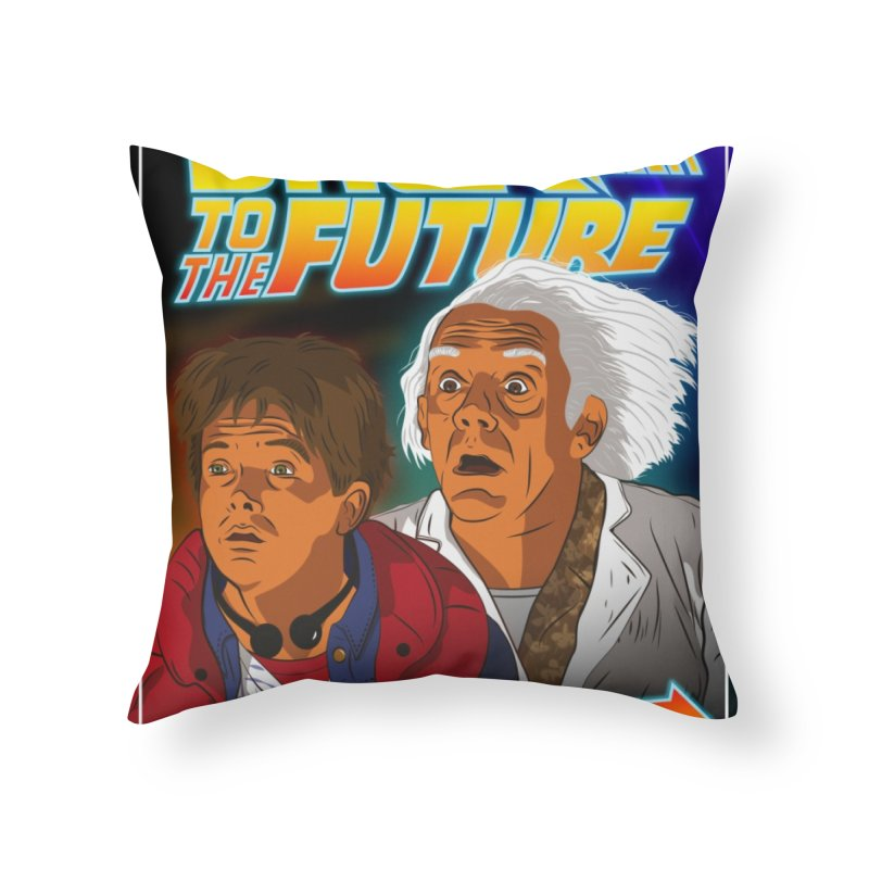 Back to the future Fan Art Home Throw Pillow by Sofimartina's Artist Shop