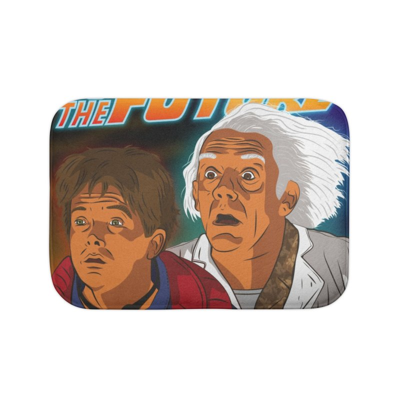 Back to the future Fan Art Home Bath Mat by Sofimartina's Artist Shop