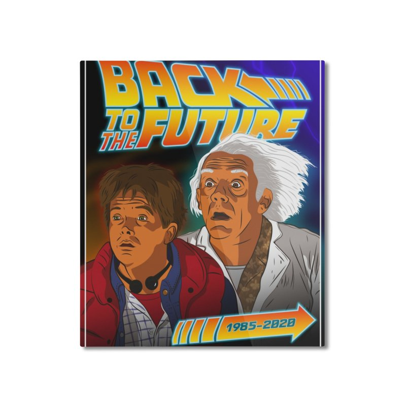 Back to the future Fan Art Home Mounted Aluminum Print by Sofimartina's Artist Shop