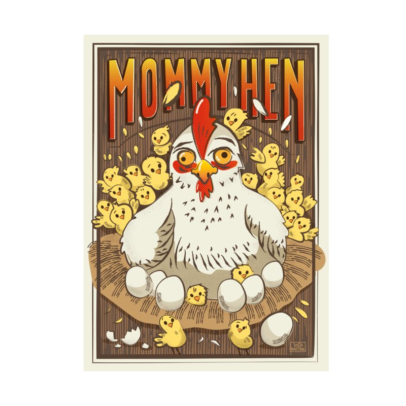 Moomy Hen Accessories Sticker by Sofimartina's Artist Shop