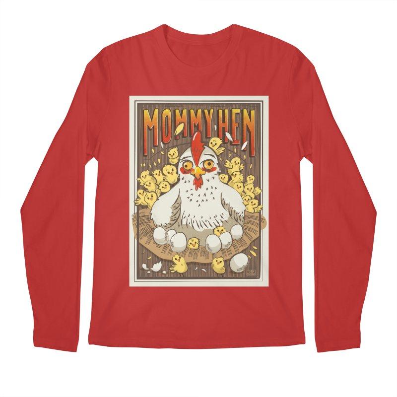 Moomy Hen Men's Longsleeve T-Shirt by Sofimartina's Artist Shop
