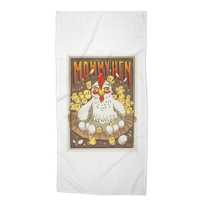 Moomy Hen Accessories Beach Towel by Sofimartina's Artist Shop