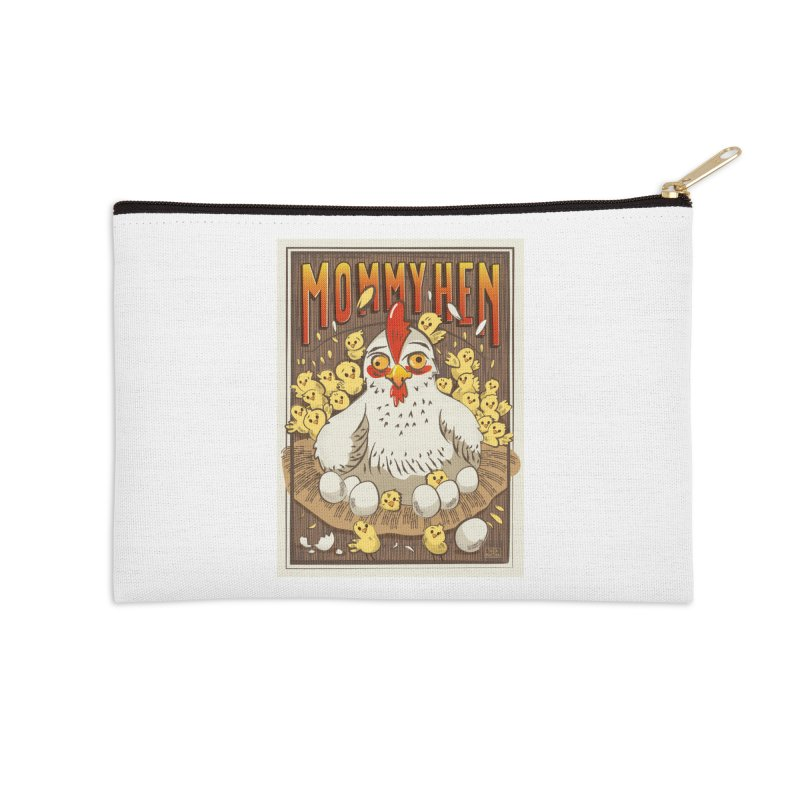 Moomy Hen Accessories Zip Pouch by Sofimartina's Artist Shop