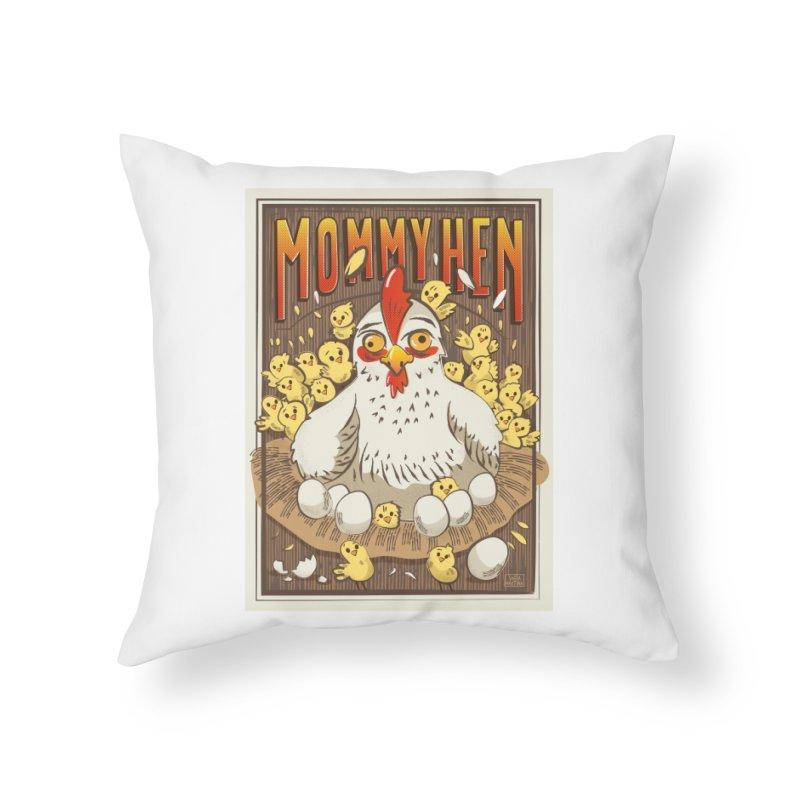 Moomy Hen Home Throw Pillow by Sofimartina's Artist Shop