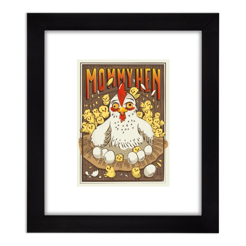 Moomy Hen Home Framed Fine Art Print by Sofimartina's Artist Shop