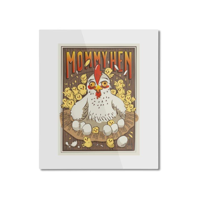 Moomy Hen Home Mounted Aluminum Print by Sofimartina's Artist Shop