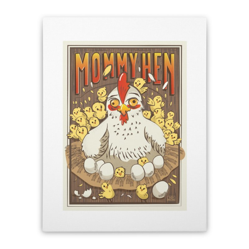 Moomy Hen Home Stretched Canvas by Sofimartina's Artist Shop