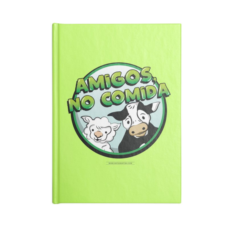 Friends no food Accessories Notebook by Sofimartina's Artist Shop
