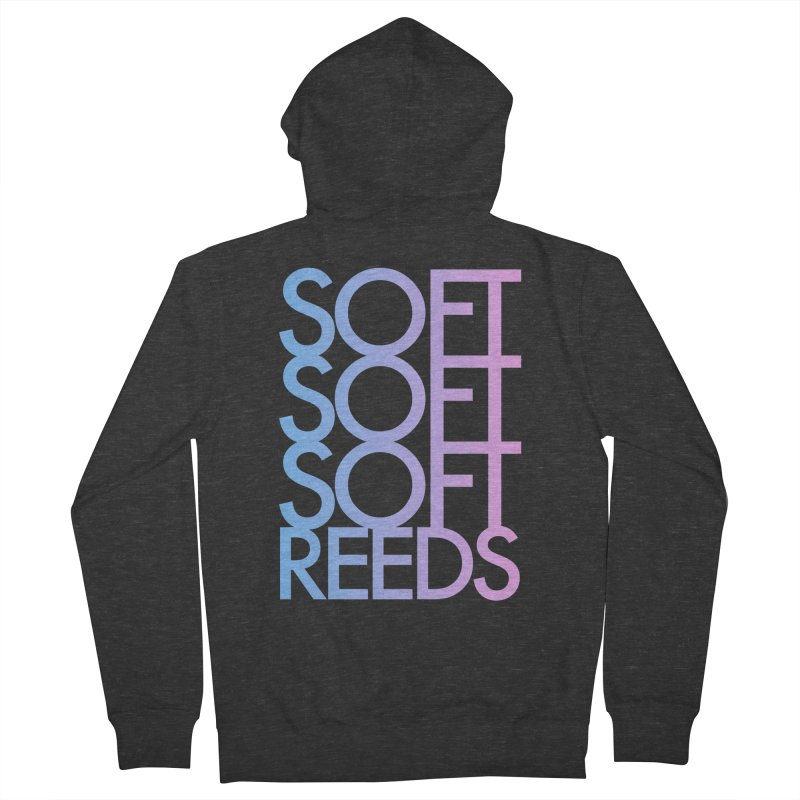 SOFT-3 Men's French Terry Zip-Up Hoody by softreeds's Artist Shop