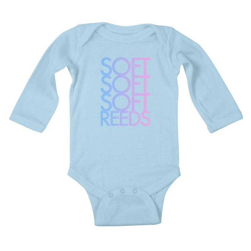 SOFT-3 Kids Baby Longsleeve Bodysuit by softreeds's Artist Shop