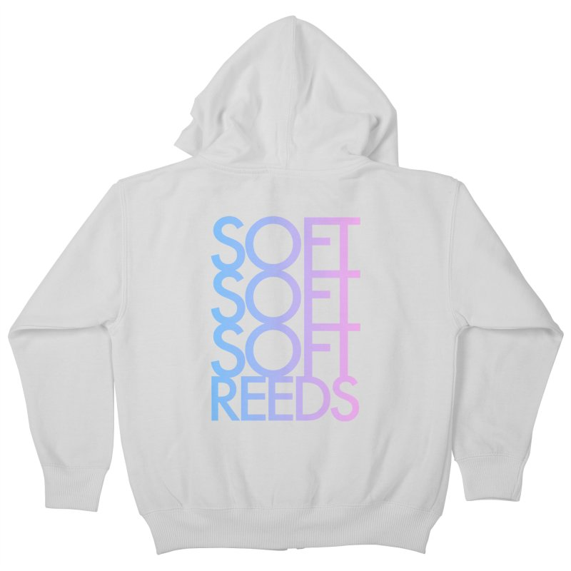 SOFT-3 Kids Zip-Up Hoody by softreeds's Artist Shop