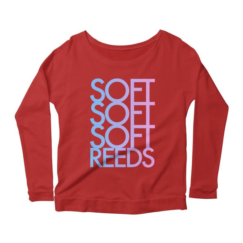SOFT-3 Women's Longsleeve Scoopneck  by softreeds's Artist Shop