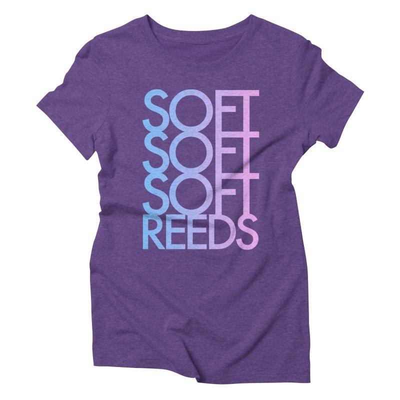SOFT-3 Women's Triblend T-Shirt by softreeds's Artist Shop
