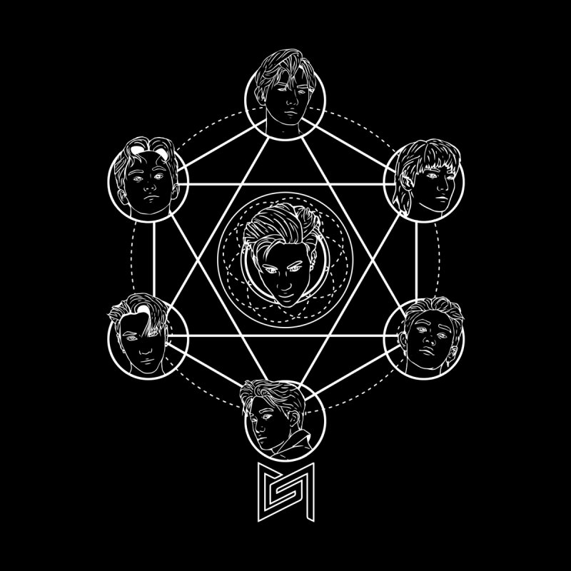 The Cult of Taemin (Super M) White Version by Soju Nights Fanart Emporium