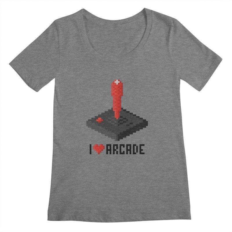 I Love Arcade Women's Scoopneck by solopixel's Artist Shop