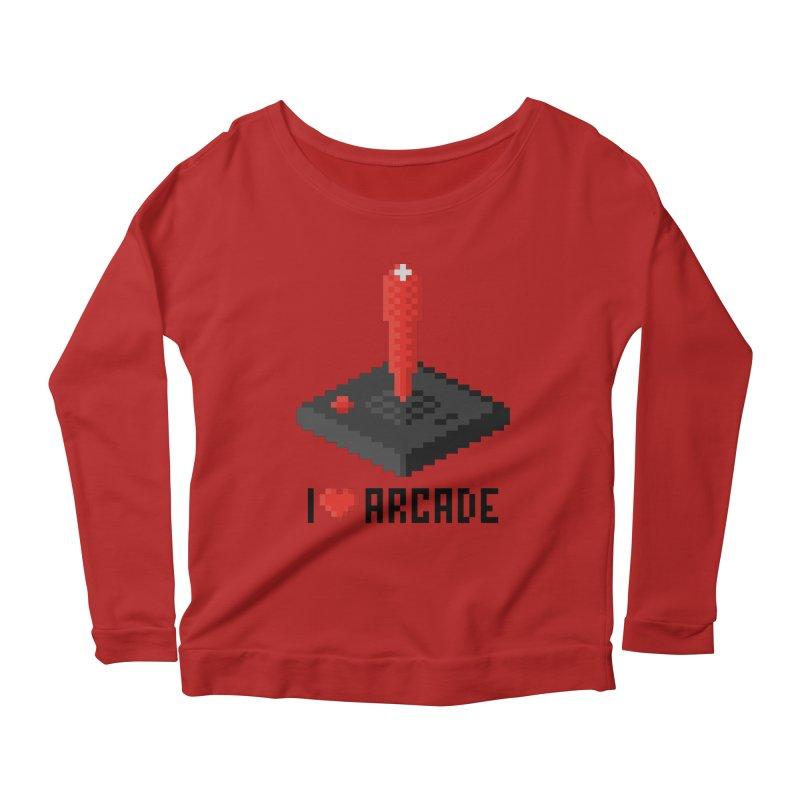 I Love Arcade Women's Longsleeve Scoopneck  by solopixel's Artist Shop