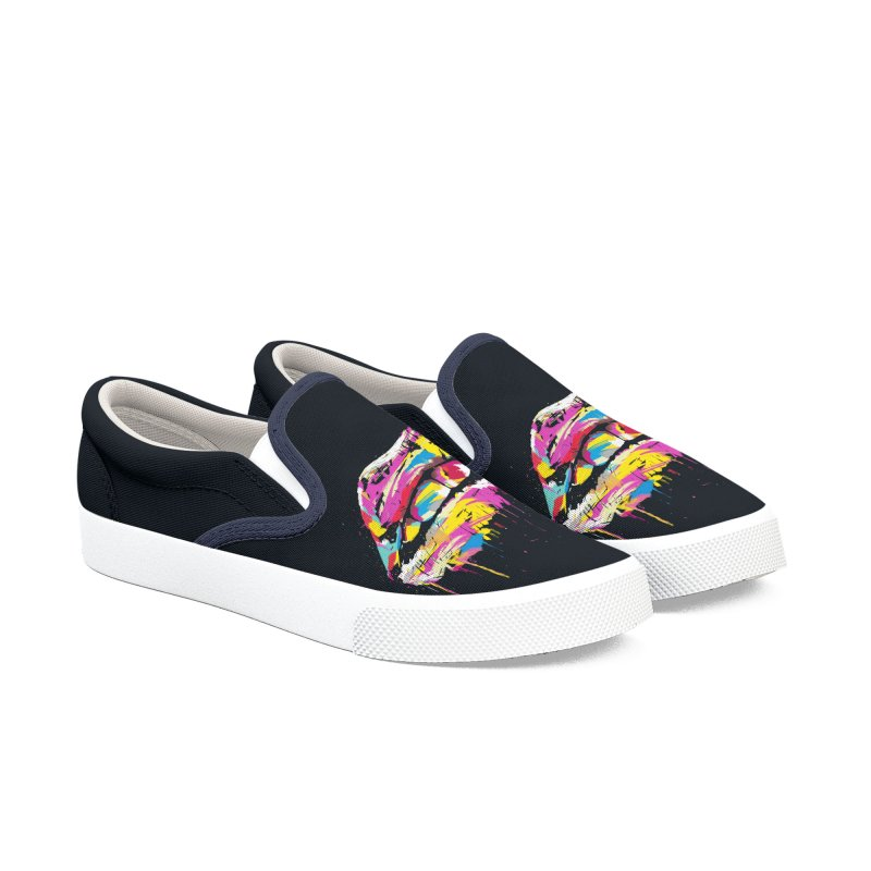 Colorful lips Women's Slip-On Shoes by Balazs Solti